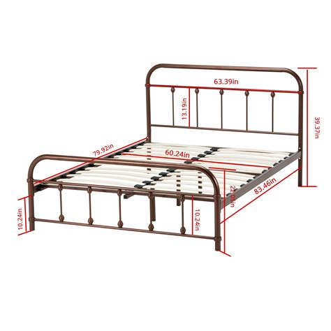 Metal Bed Frame Headboard Footboard by Size Metal Bed Frame Platform Slat Furniture W
