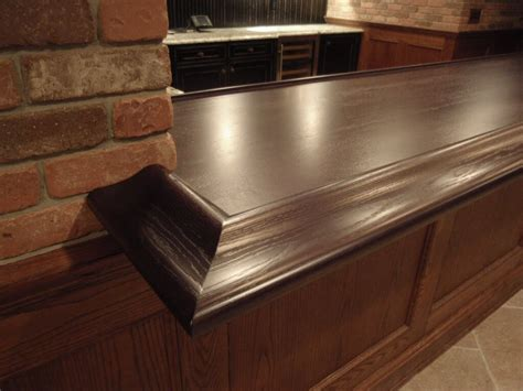 bar top rail premium wide plank wood bar tops brooks custom