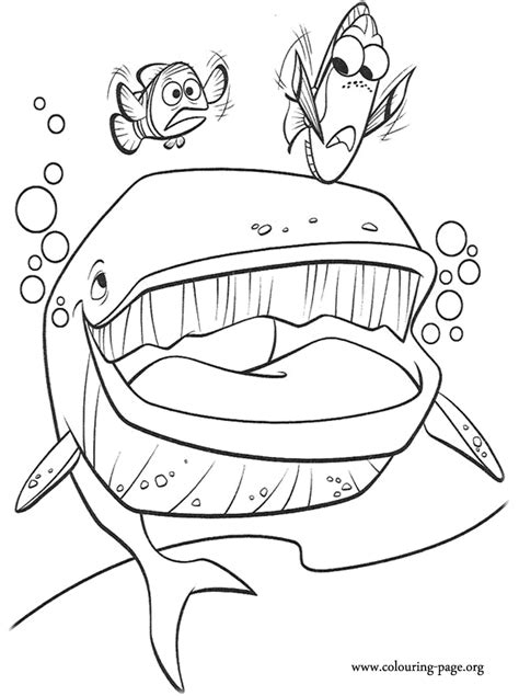 Finding Nemo Color Pages Coloring Home Finding Nemo Coloring Page