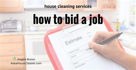 How To Bid A House Cleaning Job Savvycleaner Gt Ask A House Cleaner