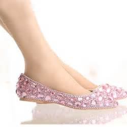 colorful flats popular pink flat rhinestone wedding shoes buy cheap pink