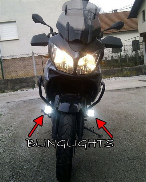 kawasaki  strom vstrom dl klv led driving lights