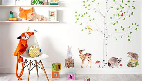 Boy Bedroom Wall Stickers woodland nursery notonthehighstreet com