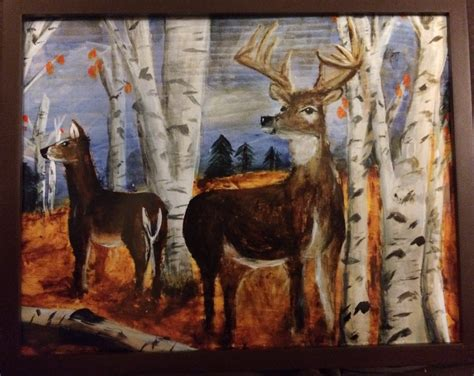 11x14 whitetail deer acrylic painting by cdaggettdesign on