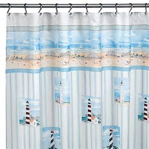 lighthouse shower curtain by saturday limited bed