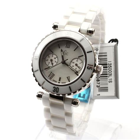 Gc White Ceramics guess collection gc i35003l1s swiss made shapphire white