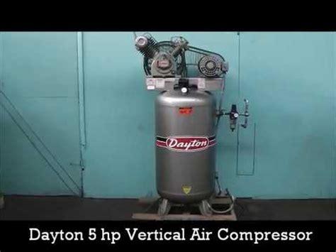 dayton 3z967b 5 hp 80 gallon vertical 2 stage air compressor