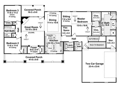 House Plans With Basement by Carriage House Plans House Plans With Basement