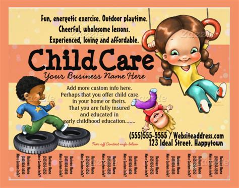 daycare flyer template 30 download free documents in