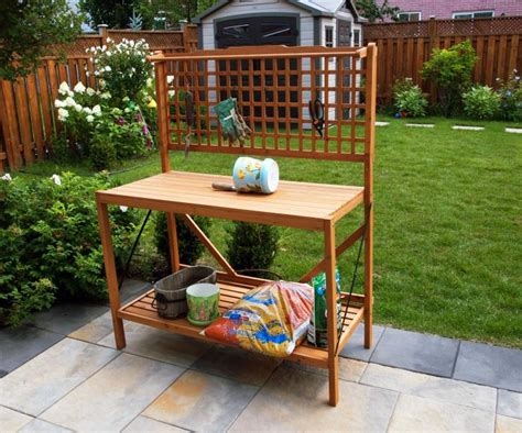 merry garden potting bench merry products wood folding garden potting bench