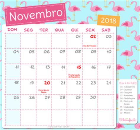 Calendario Novembro 2018 Calend 225 Bonifrati 2018