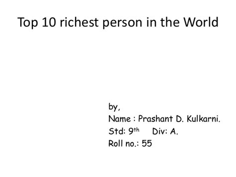 see the top 10 richest top 10 richest person in the world