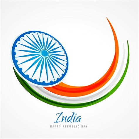 free logo design india card with abstract india flag vector free download