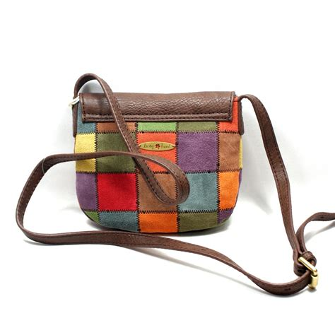Lucky Brand Patchwork Bag - lucky brand suede patchwork cross bag swing bag