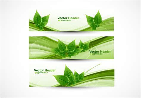 eco friendly header download free vector art stock