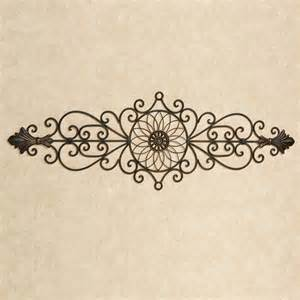 Wrought Iron Wall Decor by Antique Bronze Wrought Iron Indoor Outdoor Wall Grille