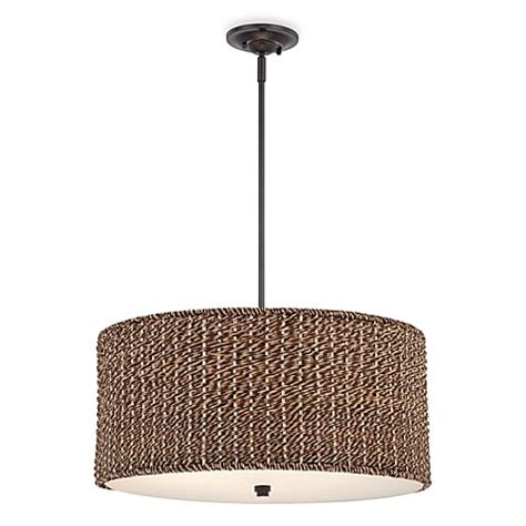 Rattan Ceiling Light Buy Bradbury Drum Shaped Ceiling Light With Grass Rattan Shade From Bed Bath Beyond