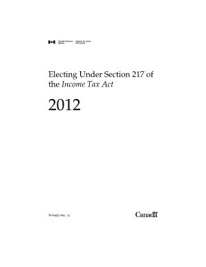 non resident section 217 t4145 canada tax fill online printable fillable blank