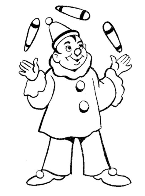 Clowns Coloring Pages Coloringpages1001 Com Free Clown Coloring Pages