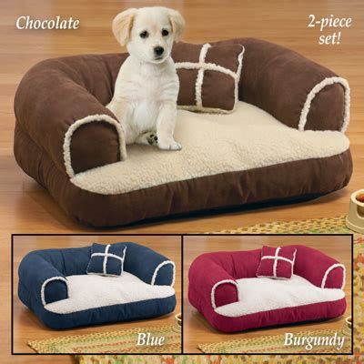 comfy dog beds comfy pet bed couch with pillow from collections etc