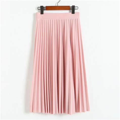 Pleated Midi Skirt Rok Murah Promo 2017 all match chiffon skirt waist fold slim skirt pleated skirt department autumn winter