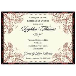black and border retirement invitations paperstyle