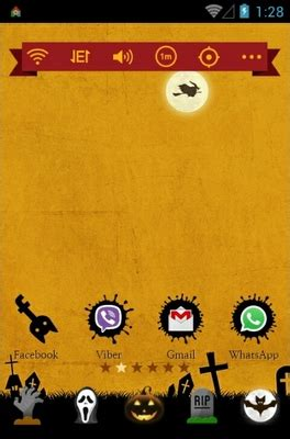 halloween themes for android happy halloween android theme for dodol launcher