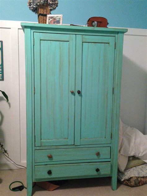 painted computer armoire painted armoire fun ideas pinterest turquoise