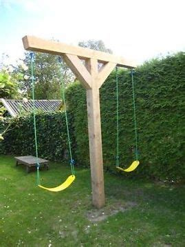 simple wooden swing set pin by terrie basham on outdoor play pinterest