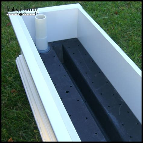 Self Watering Planter Box by Planter Well Self Watering Reservoirs For Window Boxes And