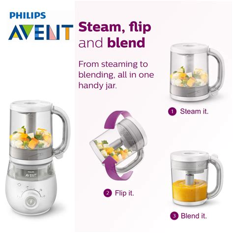 Philips Avent Baby Food Steamer Blender philips avent 4 in 1 healthy baby food maker value pack lazada singapore