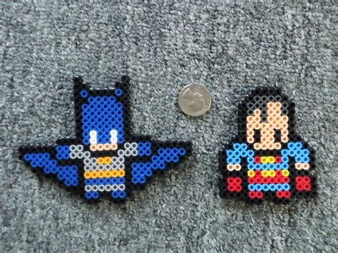 perler bead black fingers batman superman perler