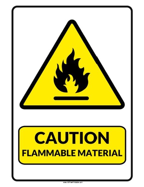 8 Signs That You Are Material by Flammable Material Sign Clipart Best