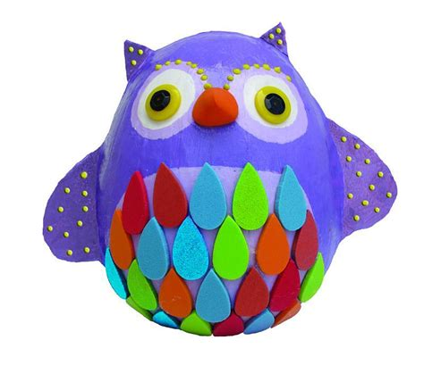 Make Your Own Paper Mache - my studio make your own papier mache model owl