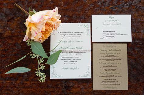 colorado wedding invitations colorado mountain wedding invitations this day events