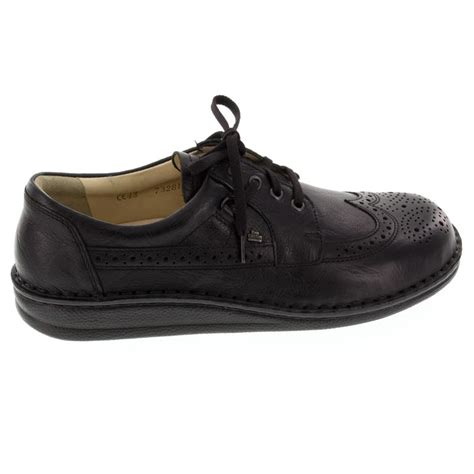 Comfort Shoes New York by Finn Comfort York Leather Black Shoes Happyfeet
