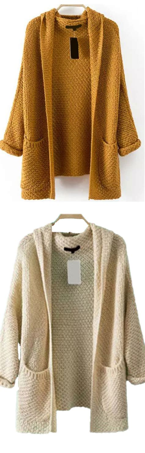 Hooded Chunky Sweater Yellow best 25 mustard yellow cardigan ideas on