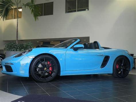 miami blue porsche boxster wp0cb2a89hs241000 2017 718 boxster s convertible used