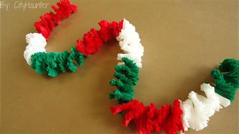 imagenes de cadenas de papel crepe guirnalda collar hawaiano fiestas patrias youtube