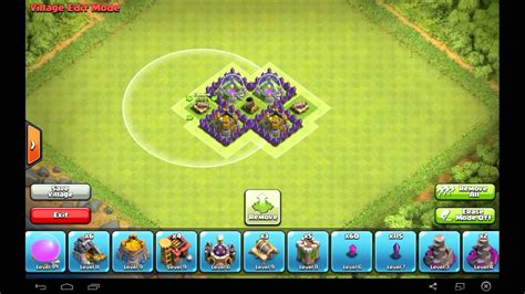 layout of coc th3 amazing th3 farming base layout clash of clans youtube