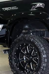 Up Truck Tires And Rims Gear Wheels On Lifted Toyota Tundra Trd Cars Trucks