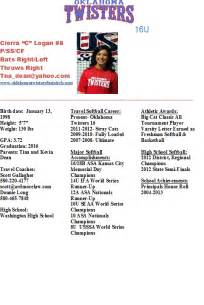 Softball Player Profile Template by Best Photos Of Athlete Bio Template Football Player