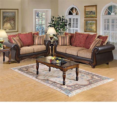 floral living room furniture dreamfurniture com 50315 olysseus brown floral sofa set