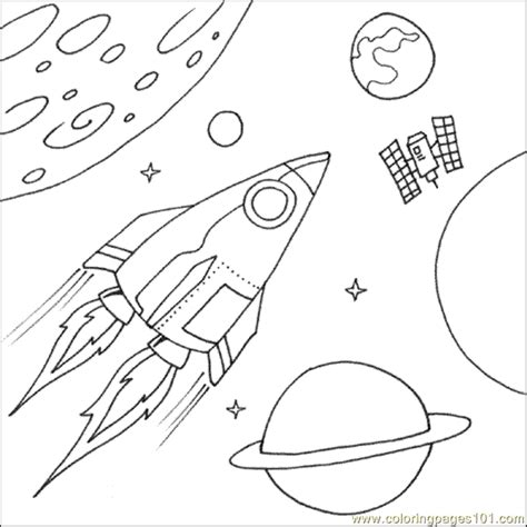 coloring pages space ship education gt shapes free