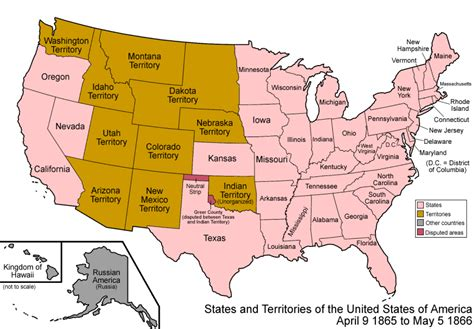 a map of the united states during the civil war map of the united states 1866