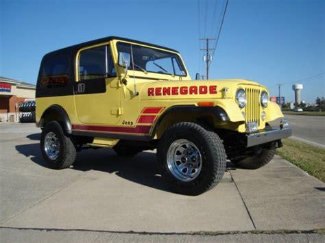 cj jeep yellow 1984 jeep cj7 yellow renegade jeep cj7