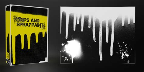 spray paint effect photoshop drips and spray paint pack 40 brushes 40 textures