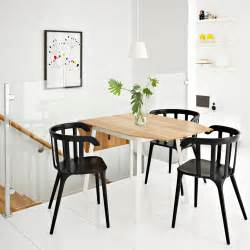 Ikea ps 2012 drop leaf table in bamboo white seats 2 4 with ikea ps