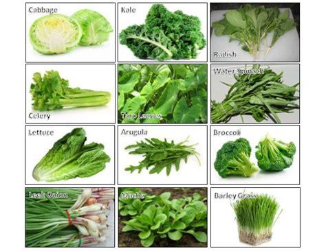 gren keaf produce types health benefits of green leafy vegetables