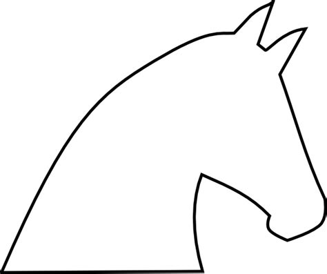 horse head outline clipart best